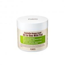 PURITO Centella Green Level All In One Mild Pad Очищающие пилинг-диски с экстрактом центеллой азиатской