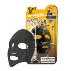 ELIZAVECCA Deep Power Ringer Mask Pack. Black Charcoal Тканевая маска для лица (с древесным углем и медом)