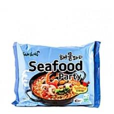 Sam Yang Seafood Party Ramen Лапша рамен быстрого приготовления с морепродуктами