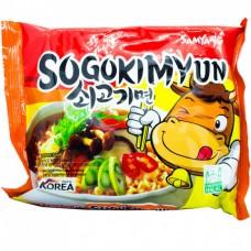 Samyang Sogokimyun Ramen Корейская пшеничная лапша рамен со вкусом говядины