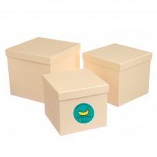 Подарочный Корея-BOX (пустая коробка с наполнителем). Бежевый Собери лучший бьюти-бокс САМА!