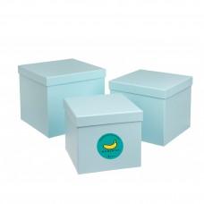 Подарочный Корея-BOX (пустая коробка с наполнителем). Голубой Собери лучший бьюти-бокс САМА!